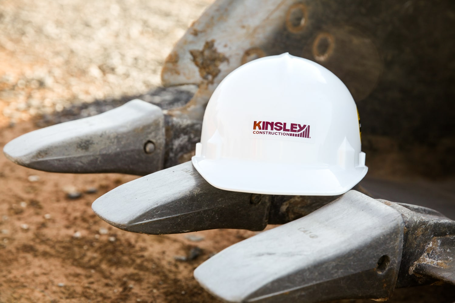 Close-up of a hard hat