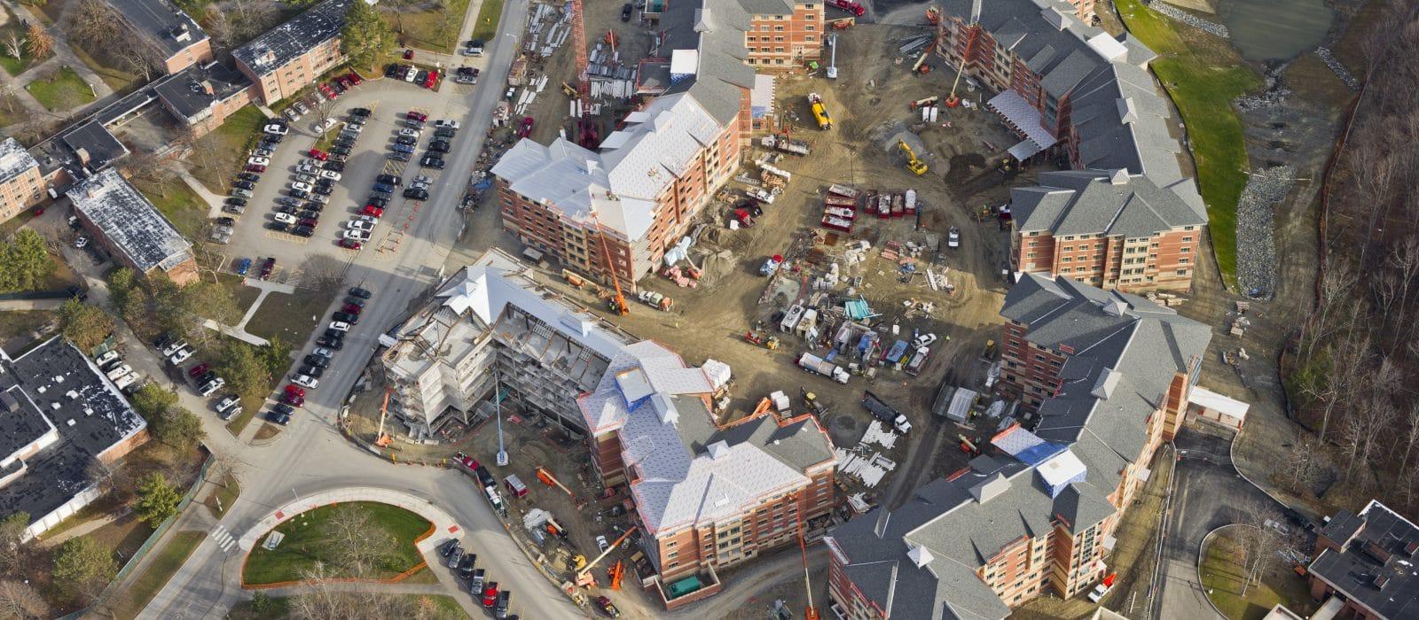 Binghamton University East Campus Housing steel frame structure