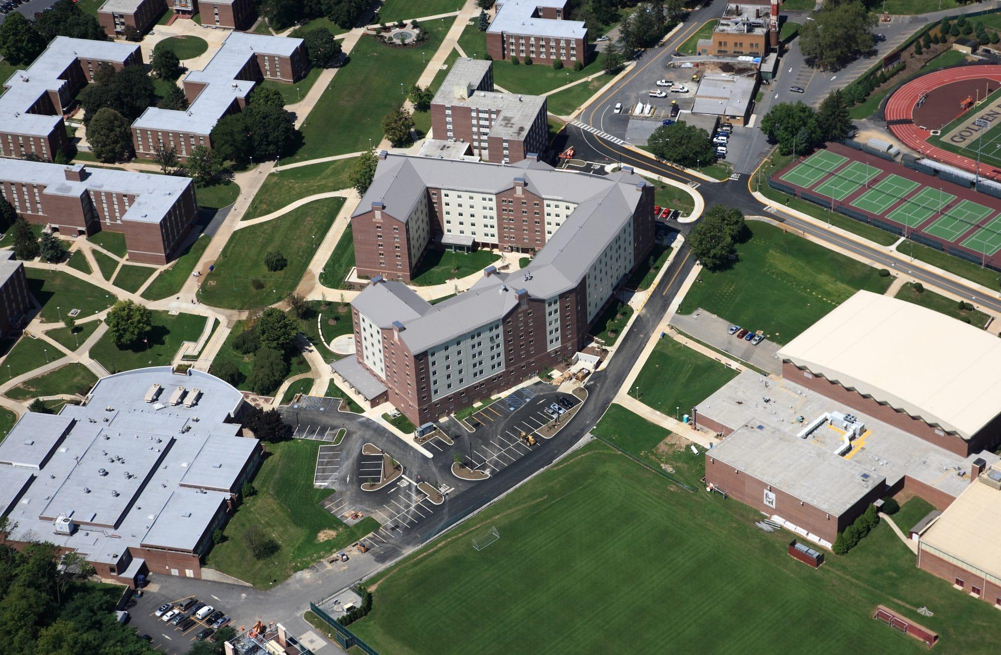 Kutztown University Dixon Hall Aerial
