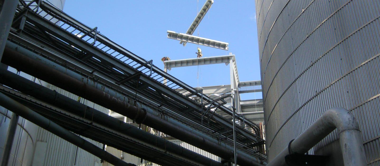 PH Glatfelter Boiler Building steel frame