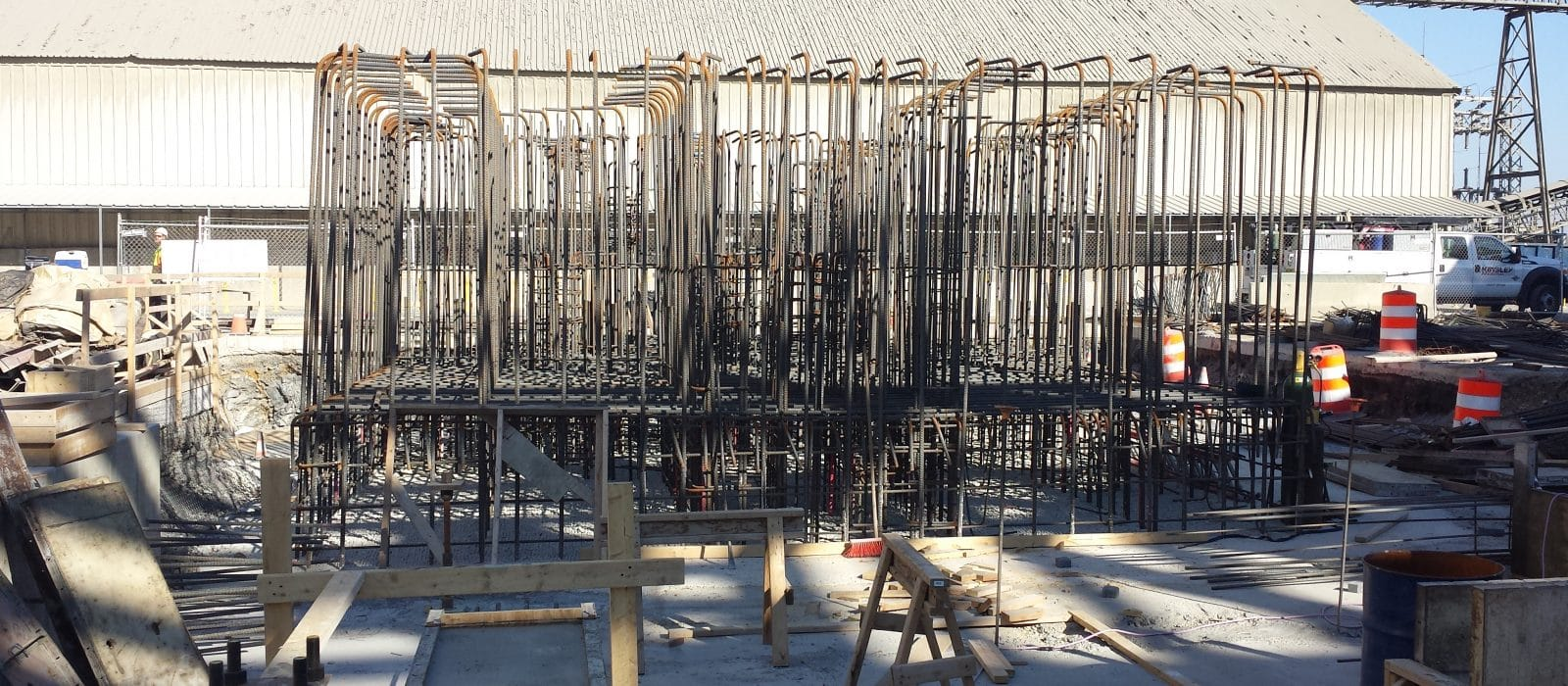 Holcim Cement Mill steel frame work