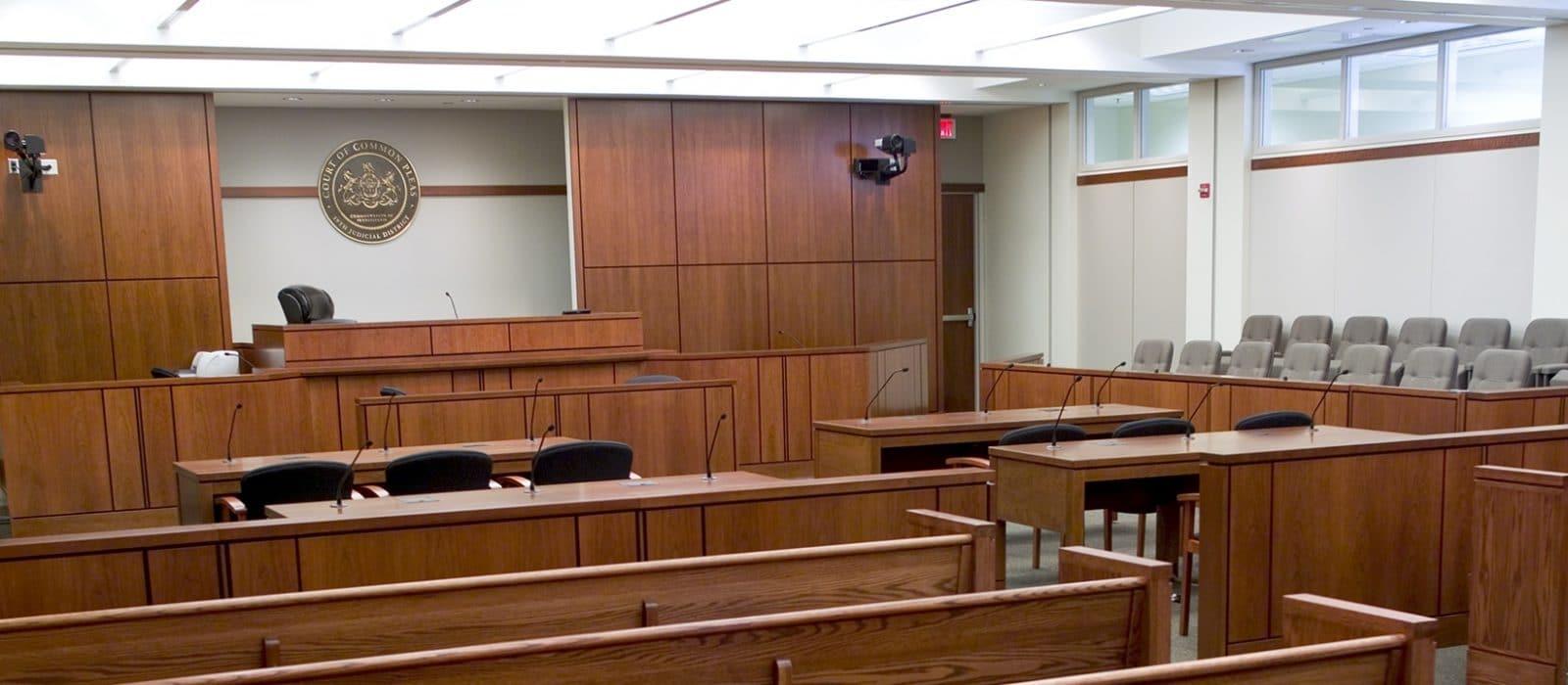 York Judicial Center Courtroom