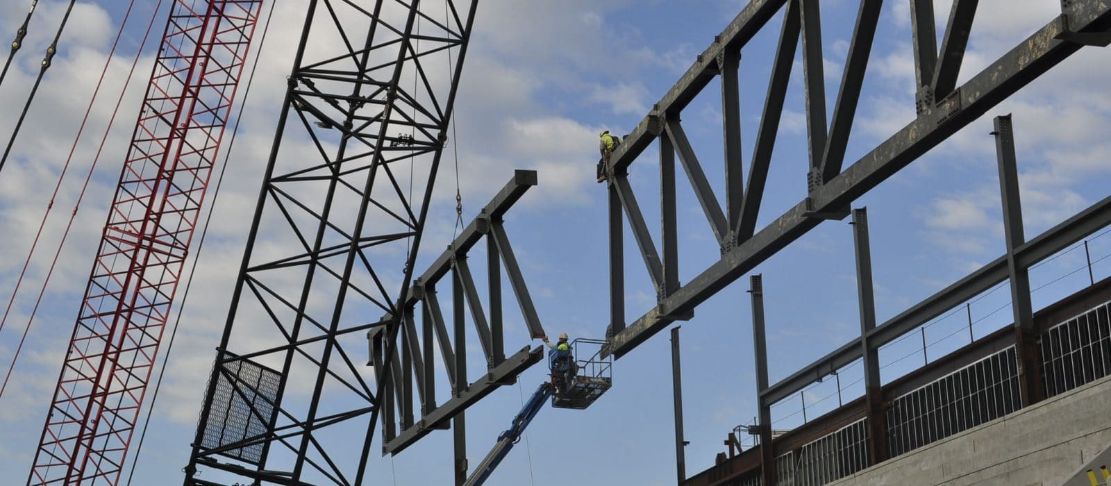 Towson Tiger Arena steel structure