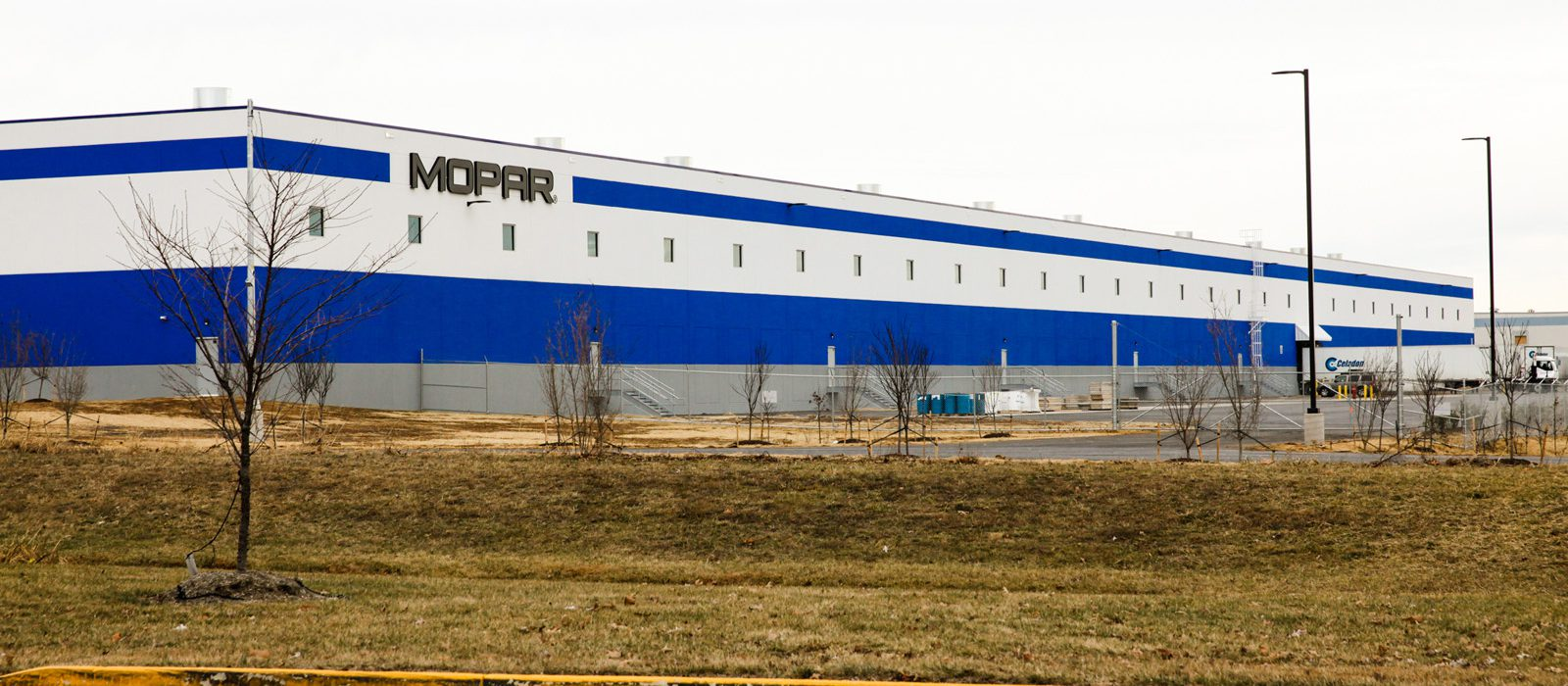 Stonewall Industrial Park Phase 2 Mopar exterior signage